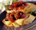 Tomato Crostini with Fontina Cheese party