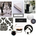 Black and White just screams classic to me. Stylish, mature�yet always has a modern feel. A black and white party theme is fitting for many occasions, from weddings to a small dinner party. Here is an inspiration board to get your in the classic mood.  Set the stage with a simple and elegant table top. This black and white dinnerware from Noritake will pop placed atop a white linen table cloth. These damask cloth napkins would add texture to the table and can be purchased individually if you only need a few. Party decor like these candle stones, paper lanterns, and black and white place cards can really pull your theme together I found all of these great finds at Pink Frosting). For a sweet ending, serve guests Martha�s  fabulous cheesecake recipe. Oh- and don�t forget the cocktail!   How about a Black Russian?  For recipes and details on where to shop...read the whole post at:  http://cli.gs/9uaJad party