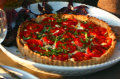 Tomato, Caramelized Onion and Goat Cheese Tart with Parmigianino Pepper Crust party